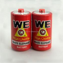 d, r20, um-1 Carbon Zinc Battery with Protective Cap PVC Jacket (red color or OEM)