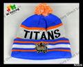 Nuevo estilo 100% acrílico de invierno sombrero bordado de la gorrita tejida con carácter y accesorio LOGO moda