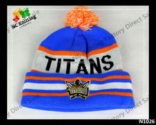 NEW STYLE 100% ACRYLIC WINTER HAT EMBROIDED BEANIE WITH CHARACTER AND LOGO FASHION ACCESSORY