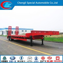 low bed semi trailer 60 ton China manufacturer lowboy trailer 2-axle lowloader semi trailer