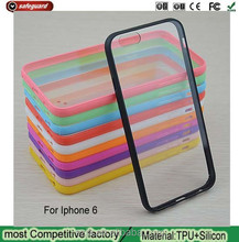 soft silicone ultra thin transparent phone case for iphone6, ultra thin clear transparent cover case for apple 6