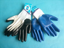 Top Quality nitrile coated safety work glove coated nylon gloves