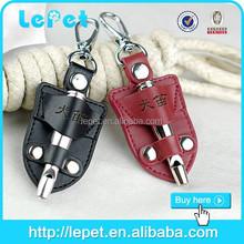 leather sheath nonrust dog training type dog whistle with high quality