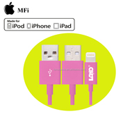 MFi certified 3.3ft pink PVC mobile 6 phone usb data cable