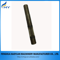 steel long shaft with spline gear for reduction