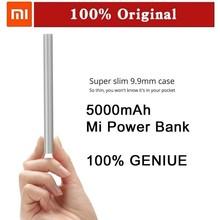 Original Xiaomi Power Bank 5000mAh 5000 External Battery Charger Pack Mi Portable Charger Emergency Mobile Powerbank