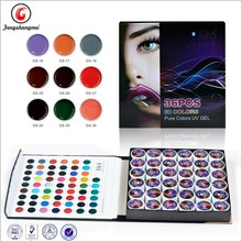 HOT New 36 Mix Colors 3D Glitter UV Kit Gel Acrylic Nail Art Decoration