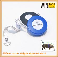 Buena calidad cinta métrica para medir tamaño y peso de vaca y cerdo con su logo