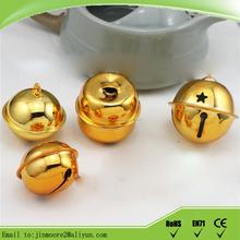 Vintage de la navidad decoraciones pequeño bronce templo dorado campanas de venta al por mayor