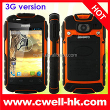 3G Rugged Smartphone Android 4.2 MTK6572W Dual Core 3.5 Inch Dual SIM 5 Colors Discovery V5+ 3G Rugged Waterproof Cell Phone