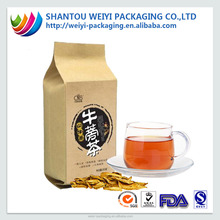 Recyclable aluminum foil kraft paper tea bag packing