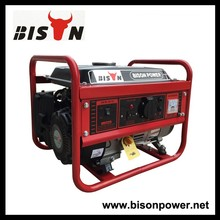 BISON CHINA Taizhou 1kw AC Single Phase Power Gasoline Generator For Sale