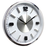 "12"" luxury fashion 3d gifts metal wall clock"