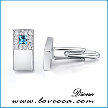 Swarovski Elements Crystal Cuff-Links, French Best Costume Cufflink, Low MOQ Wholesale Price, Platinum Plated