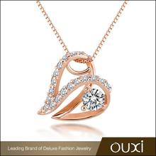 OUXI factory supply fancy artificial necklace guangzhou gemstone jewelry market