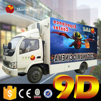 With export experience for Jordan best price high quality 3d 5d movies truck cinema