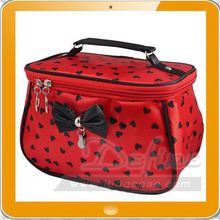 ladies polyester lovely fancy cosmetic bag