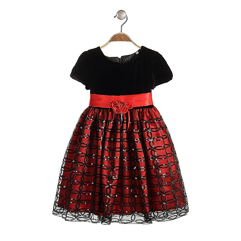 Wholesale noble woolen fancy party dress for girls lace for Children s cotton dress fabric