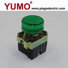 YUMO (LAY5-BV63) Green Two knobs waterproof foot button switch electrical push button