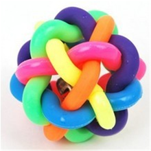 Pet Dog Product Manufacturer From China,pet Supply Latex Rubber Pet Toy,Colorful Rainbow Ball Dog Toy