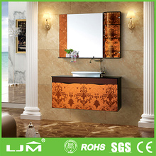 Eco-Friendly practical decorated movable mirror small bathroom furniture ideas