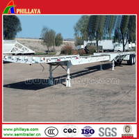 3 axle extendable trailer flatbed or low bed drop deck for wind blade tower trubine transportatio