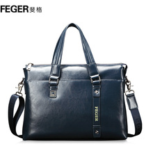 FEGER brand OEM ODM durable man cow leather bag wholesale
