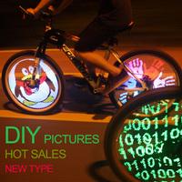 128 LED programmable new led bike wheel light