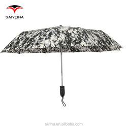 alibaba china camouflage design 23 inches 10 ribs 3 folding umbrella