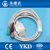 Fukuda ECG leadwires,one-piece series snap cable lead for medical equipment /12pin/5-lead