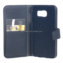 smart leather slim flip case for Samsung Galaxy S6 with wallet style