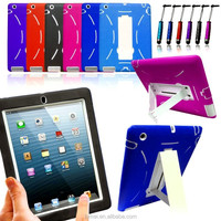 Heavy Duty Shock Proof Hard Case Cover & Stylus Pen For Apple iPad Series