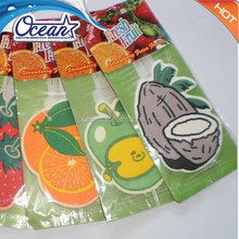 Paper air freshener fruit shape/car air freshener With Competitive Price