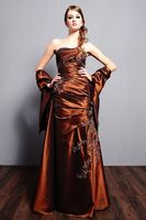 Nice-looking Sleeveless With Wraps Ruffle Beaded Floor Length Petite Mother Of The Bride Dresses 2014