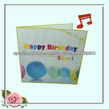 tarjeta de felicitación de cumpleaños de papel