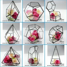 """ housewarming green gift wholesale onion shape glass hanging terrarium mini geometric stained glass cube terrarium planter"