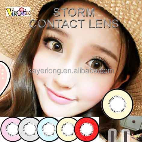 Fresh Color Anime Cosplay Red Storm Contact Lenses