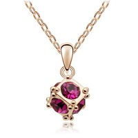 diamond pendant necklace korean jewelery