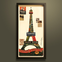 3D handmade famous Paris metal Eiffel Tower home decor