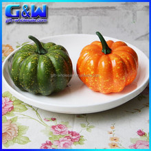 Environmental Decorative Vegetable Plastic Small Artificial pumpkin for halloween decoration - 2 colors