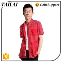 Garments supplier New style Fitness Comfortable men fancy short sleeve shirt
