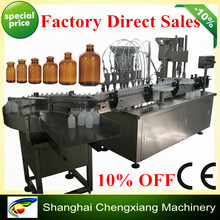 Shanghai 15years facory direct sales automatic pharmaceutical syrup washing filling and capping machine(CE&GMP)