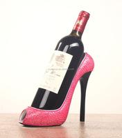 Handmade wine display stand high-heeled shoes resin wine rack wine holder