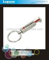 2014 cool gift custom i love polska bottle opener keychains