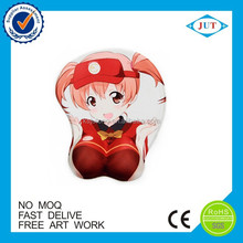 wholesale 3d sexy girl silicon game mouse pad with wrist rest