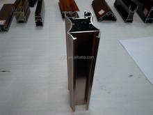 Wood finish beautiful design aluminum profiles for doors and aluminium extrusion profile
