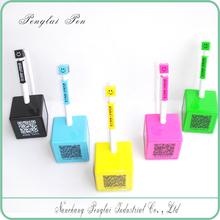 plastic desk pen,desk stand pen,cube desk pen