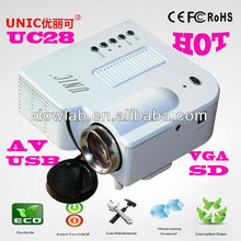 Hottest!!!UC28 promotion 1080p lcd mini professional projector
