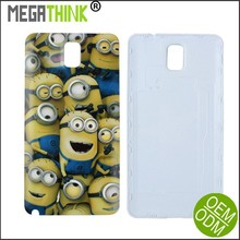 OEM Custom Note 3 Replacement Back Cover for Samsung Note 3 Battery Housing in Despicable me Yellow Minions Pattern