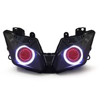 Motorcycle HID Projector Headlight Assembly with LED Angel Eye for Kawasaki Ninja 300 2013-2015